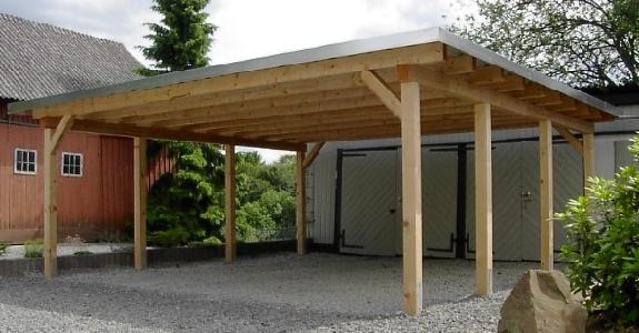 Carports vord cher for Holzkonstruktion carport